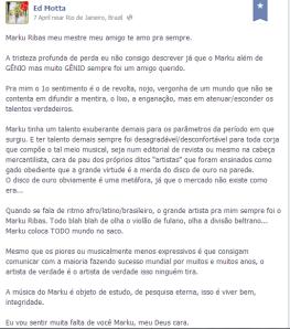 Ed Motta sobre Marku Ribas